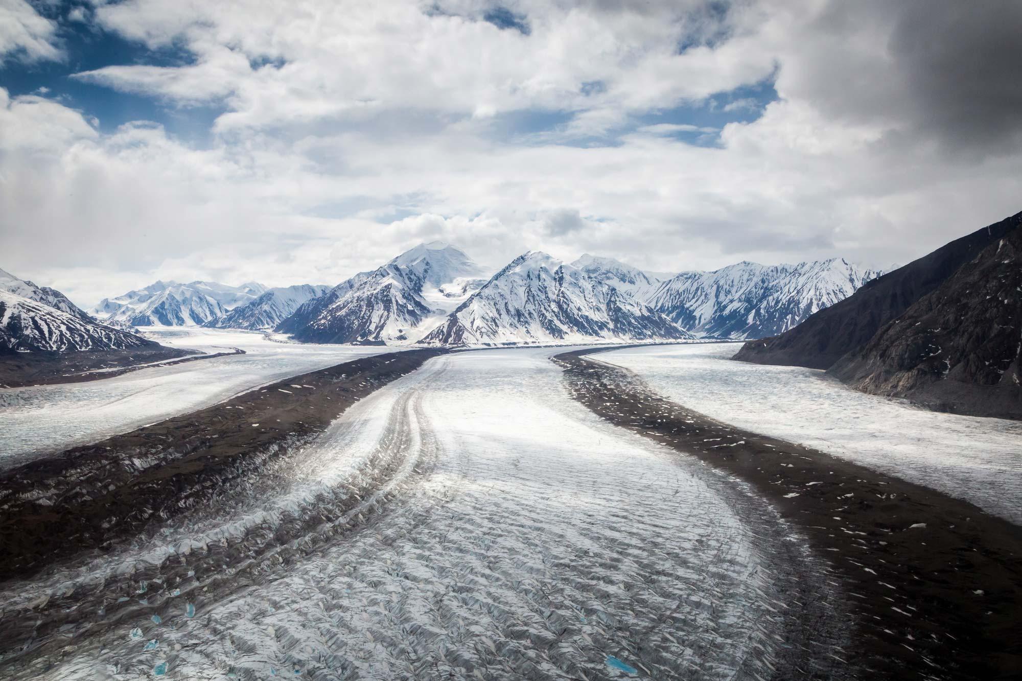 Glacier dans le Parc National Kluane